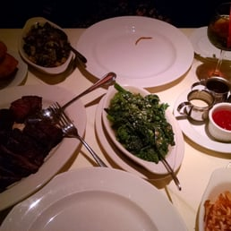 The Park Steakhouse - Park Ridge, NJ, United States. Broccoli rabe, free fries, port wine sauce for the steak was bomb