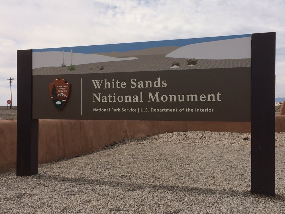 White Sands National Monument Sign 2016 Park Entrance