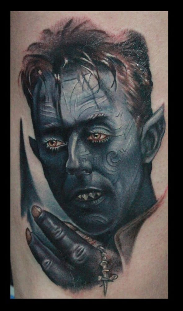 2 X 2 Tattoo: Nightcrawler X-Men Tattoo By Josh Grable