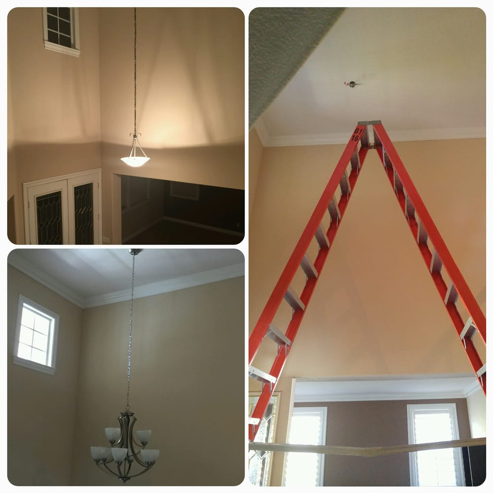 20 foot ceilings needed to acquire a 16 foot A frame ladder for a ...