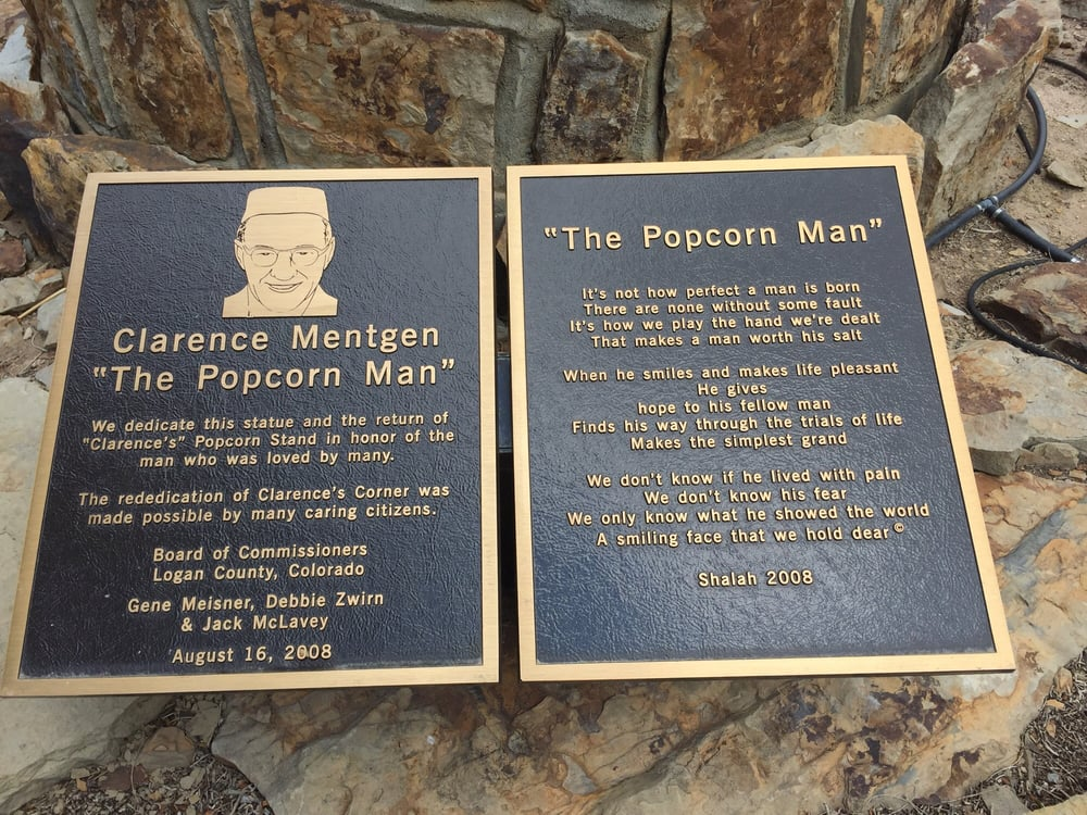 The Popcorn Man - Statue: 100 South 3rd St, Sterling, CO