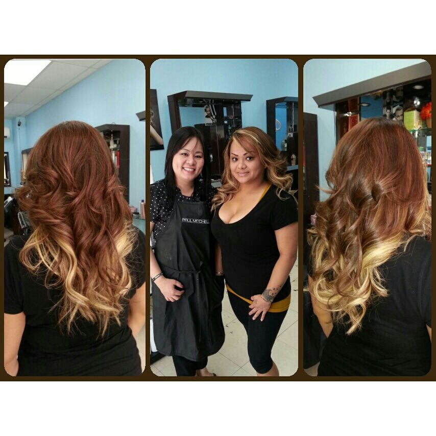 Me Amp My Hair Stylist Salon Owner Vivian Ombrehairstyle Yelp