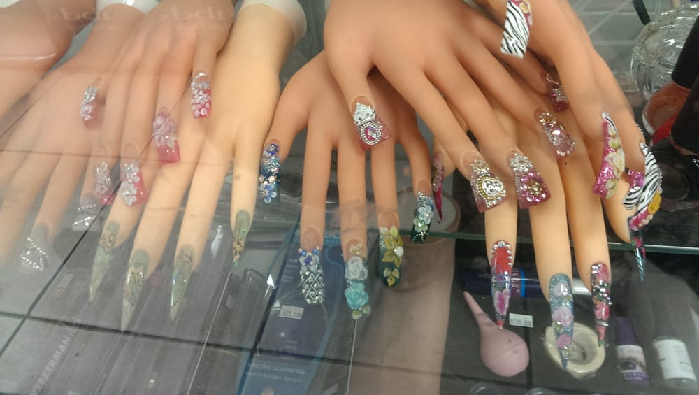 Nail designs on mannequin hands - Yelp