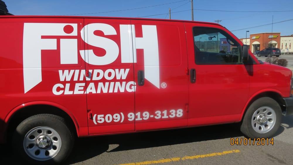 Look For The Red Fish Window Cleaning Van In Your Area