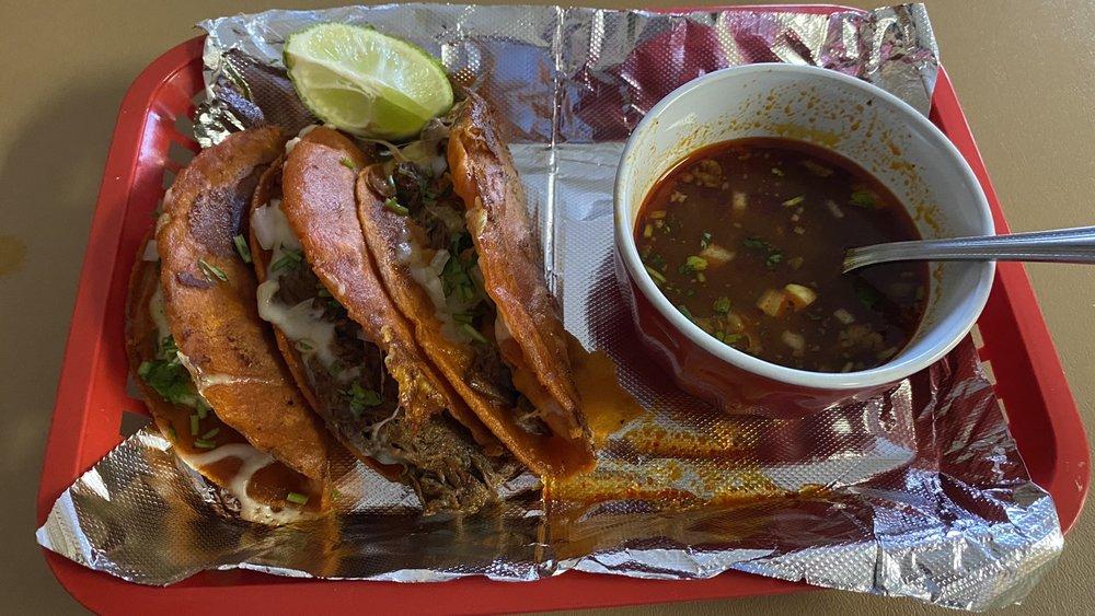 Food from La Gloria Mexican Restaurant
