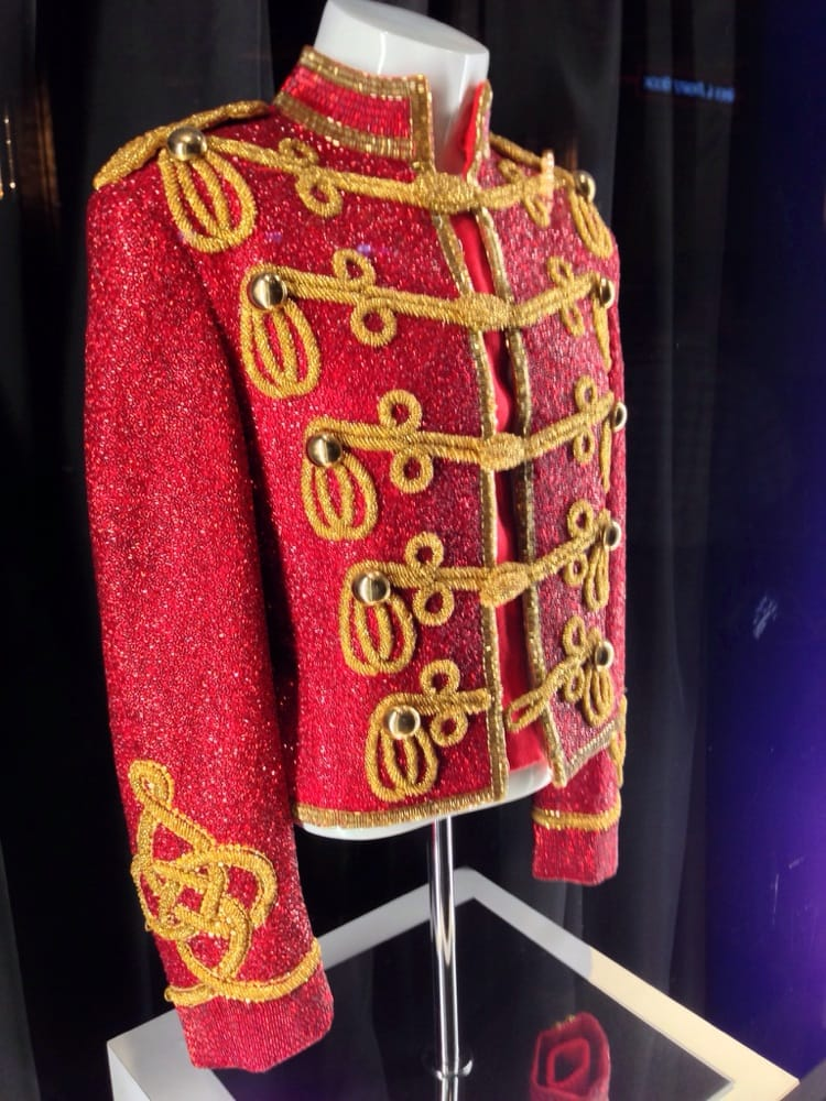 authentic michael jackson red beaded military jacket yelp