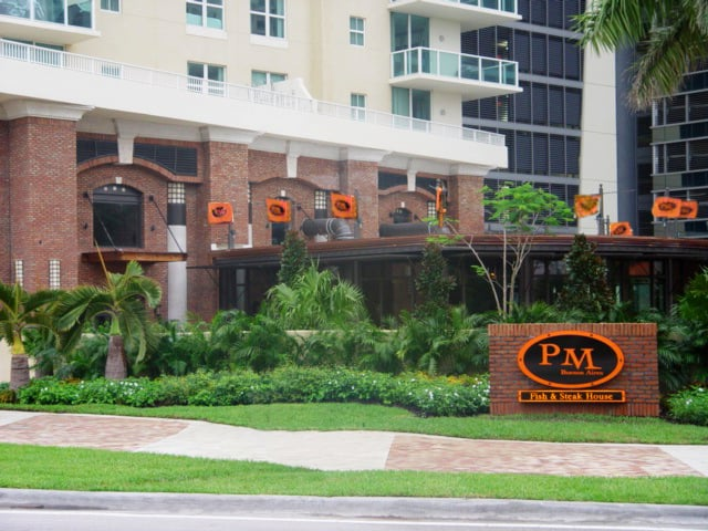 Our view from the roundabout yelp for Pm fish steak house