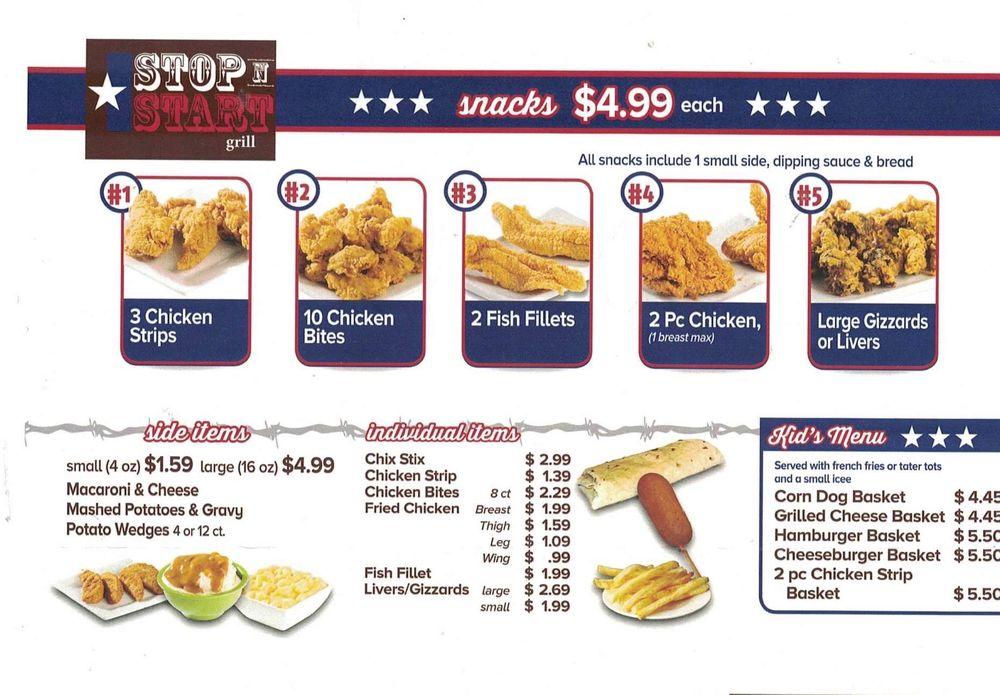 Stop N Start Grill: 301 Halesboro St, Bogata, TX
