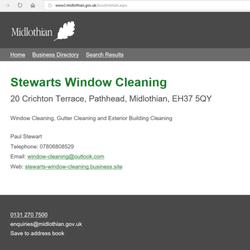 Stewarts Window Cleaning - Window Cleaners - 20 Crichton Terrace