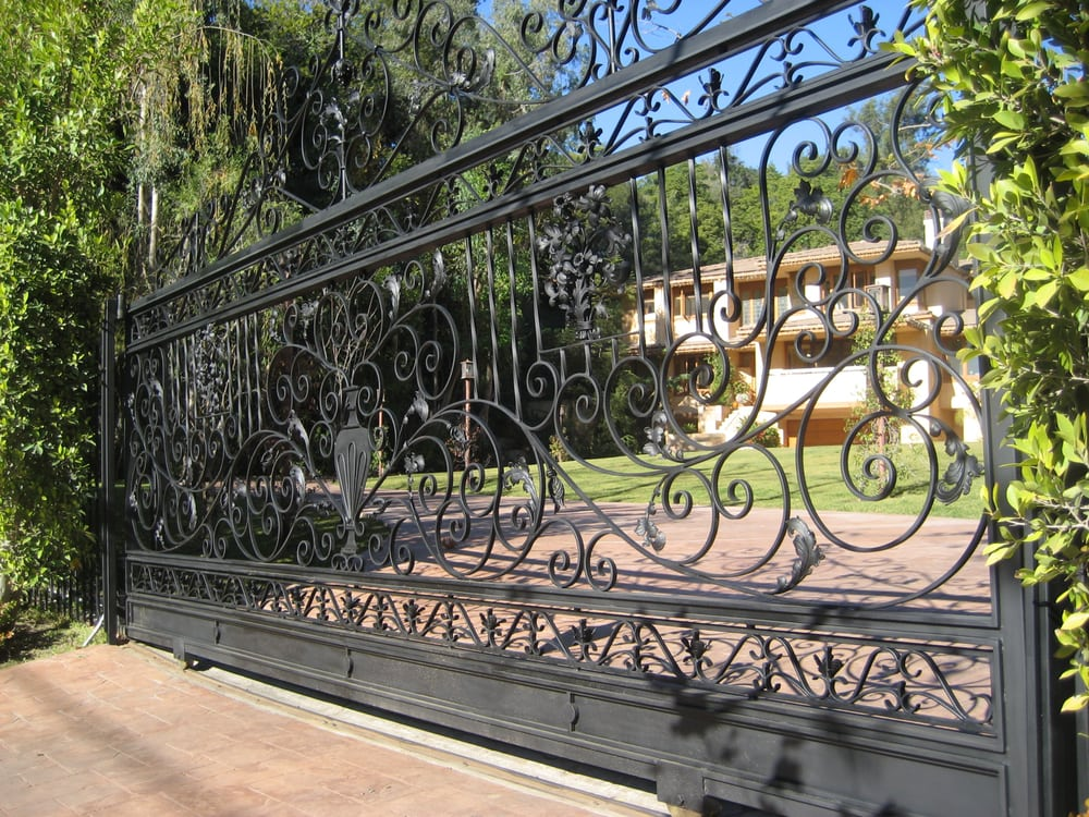 Ornamental Wrought Iron Slide Gate In Beverly Hills Yelp