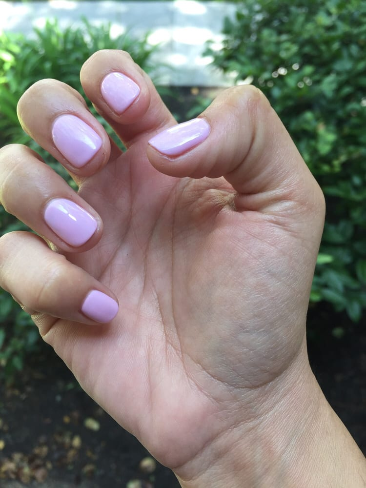 Gorgeous light orchid color-gel nail $20 (with grand opening ...
