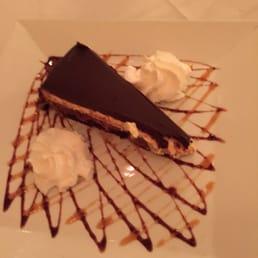 Bellissimo - Montvale, NJ, United States. Chocolate banana mousse pie/cake.