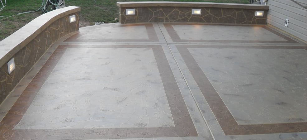 Photo of Atkins Concrete - Volo, IL, United States. Concrete Patio with Framing