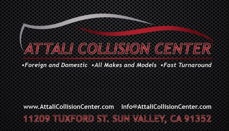 Business card in the working yelp photo of attali collision center los angeles ca united states business card reheart Image collections