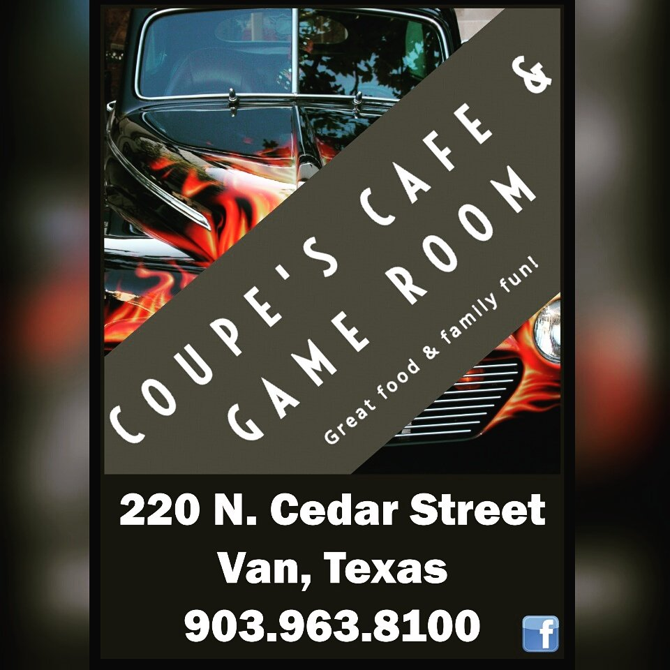 Coupes Cafe and Game Room: 220 N Cedar St, Van, TX