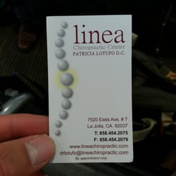 Linea chiropractic center 14 photos 11 reviews chiropractors photo of linea chiropractic center la jolla ca united states business card reheart Images