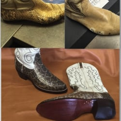 Photo of Cobblers Plus - Denver, CO, United States. Old Cobra Boots  Recovered