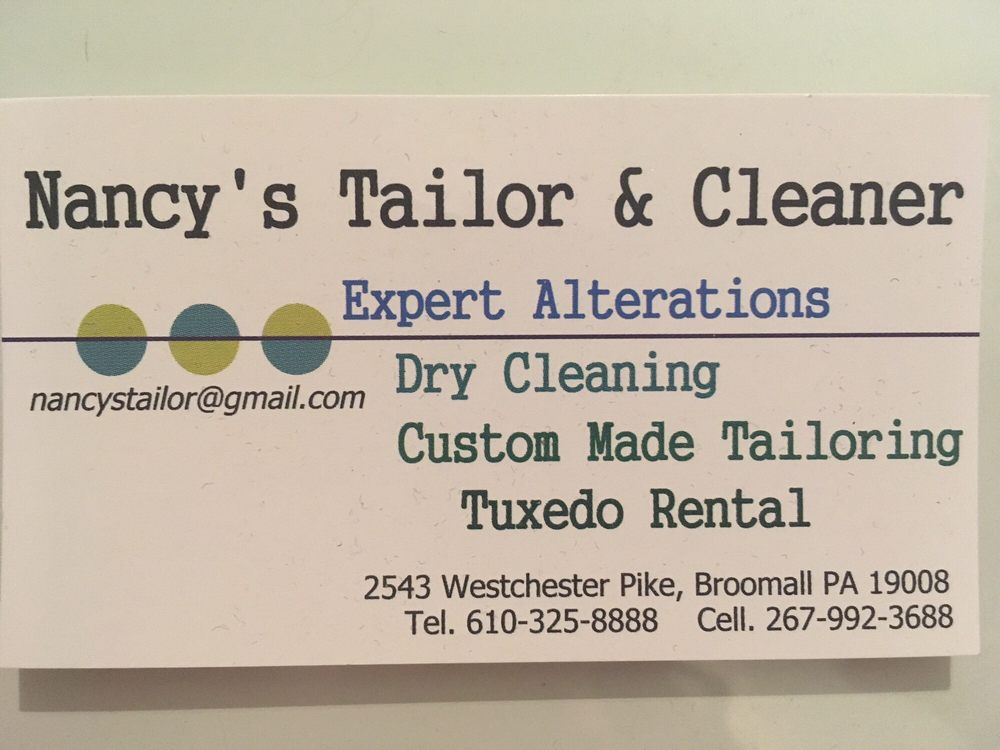 Nancy's Tailor and Cleaners: 2543 W Chester Pike, Broomall, PA