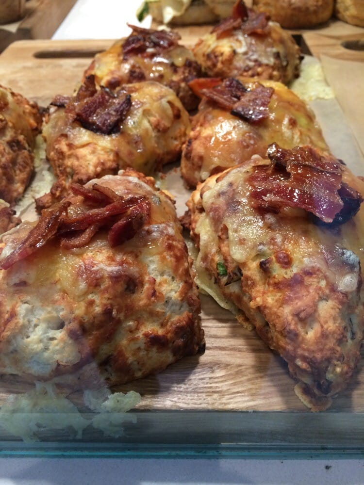 bacon cheddar onion scone yelp