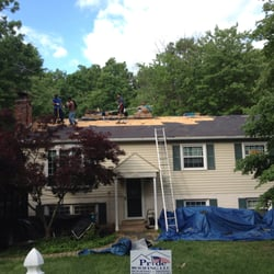 Photo Of Pride Roofing   Gainesville, VA, United States. Another Roof Being  Replaced