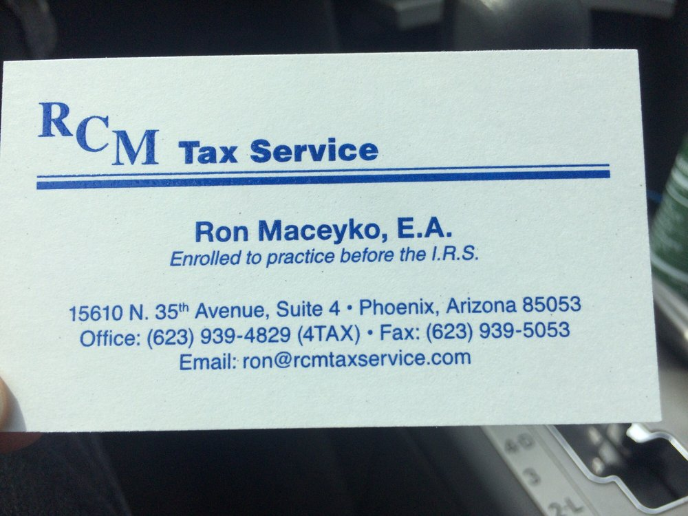 RCM Tax Service: 15610 N 35th Ave, Phoenix, AZ