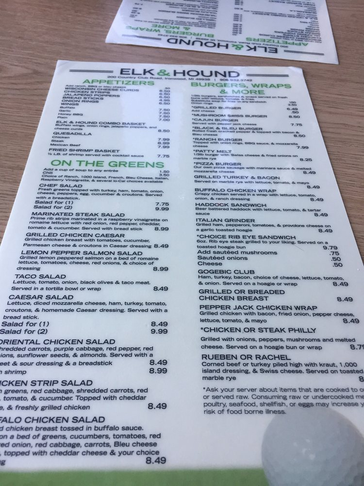 Elk & Hound: 10233 Country Club Rd, Ironwood, MI