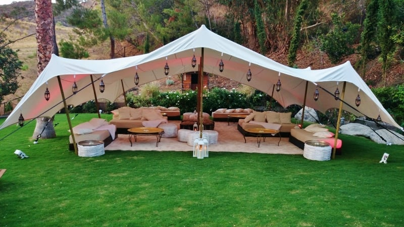 Photo of Zeen Designs - West Hollywood CA United States. Moroccan Bedouin tent & Moroccan Bedouin tent u0026 lounge in white - Yelp