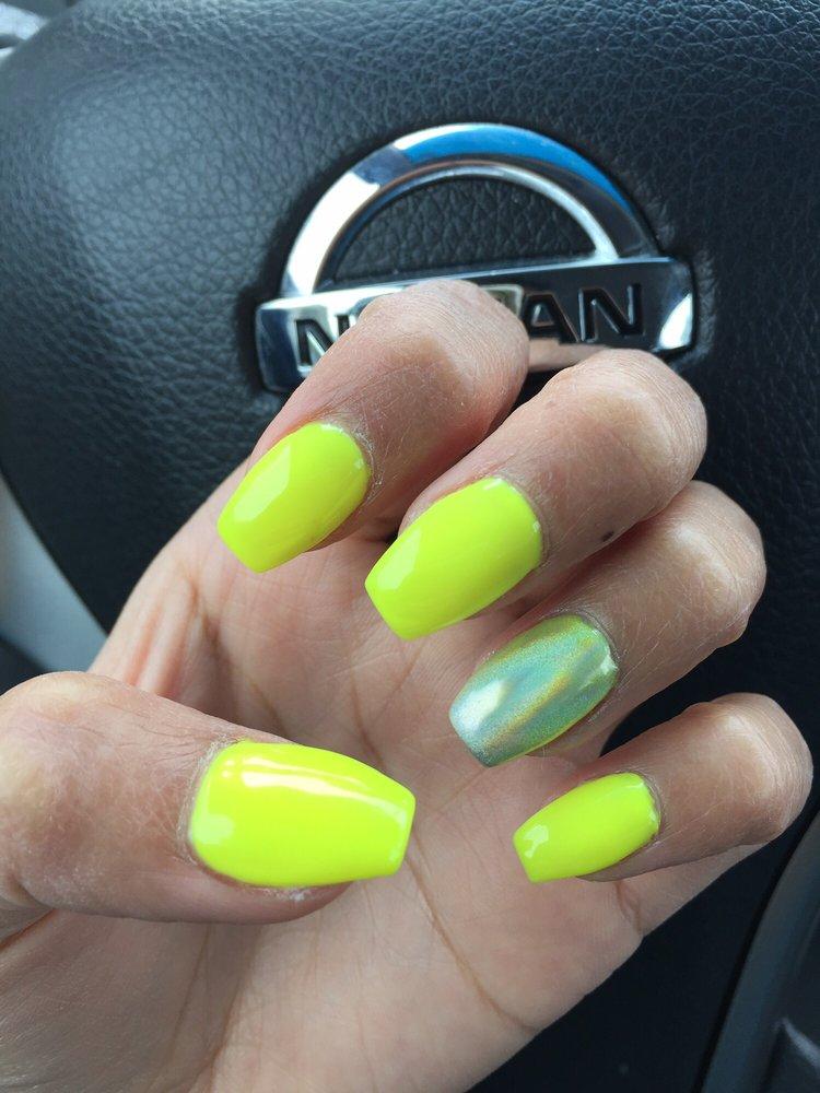 Neon yellow with chrome! - Yelp