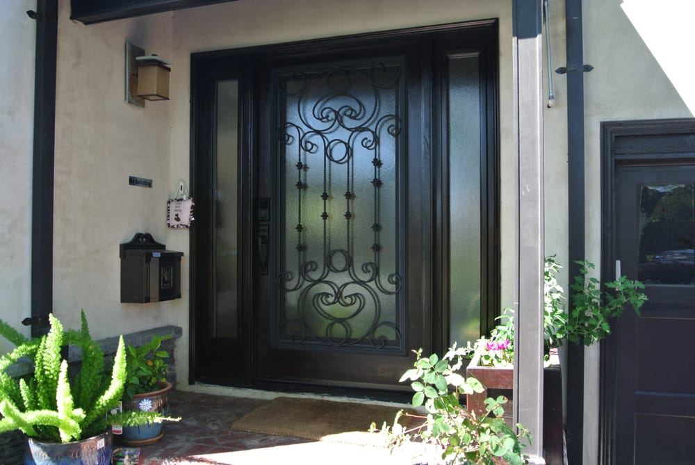 Photo of Door Conversions - C&bell CA United States. Wrought Iron Door Insert & Wrought Iron Door Insert (Featuring Hinged Glass w/ Screen ... pezcame.com