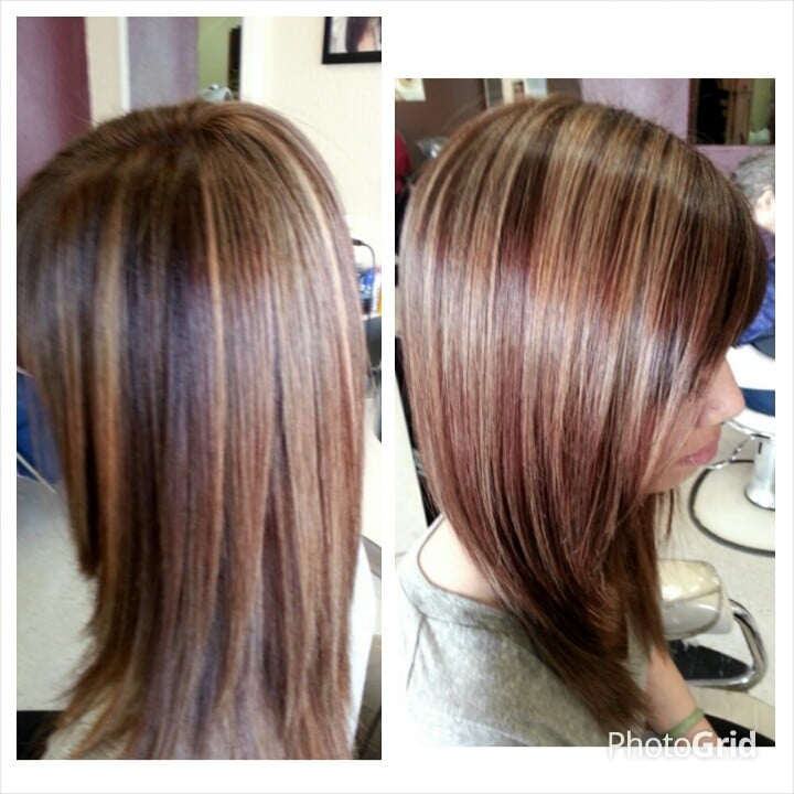 ... CA, United States. Auburn red with honey blonde highlights...by Cheri