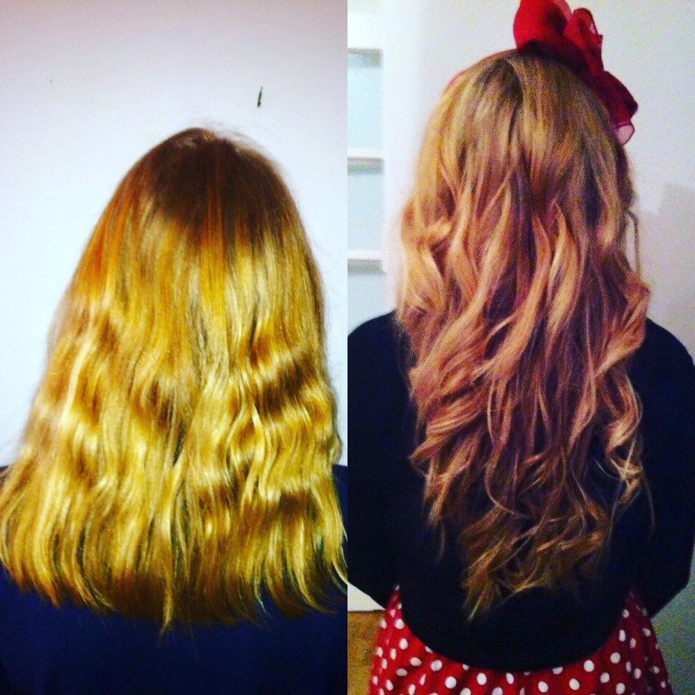Our Most Popular Micro Ring Hair Extension System Before And