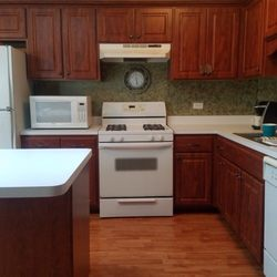photo of custom wood cabinet refacing lansing il united states after thermofoil