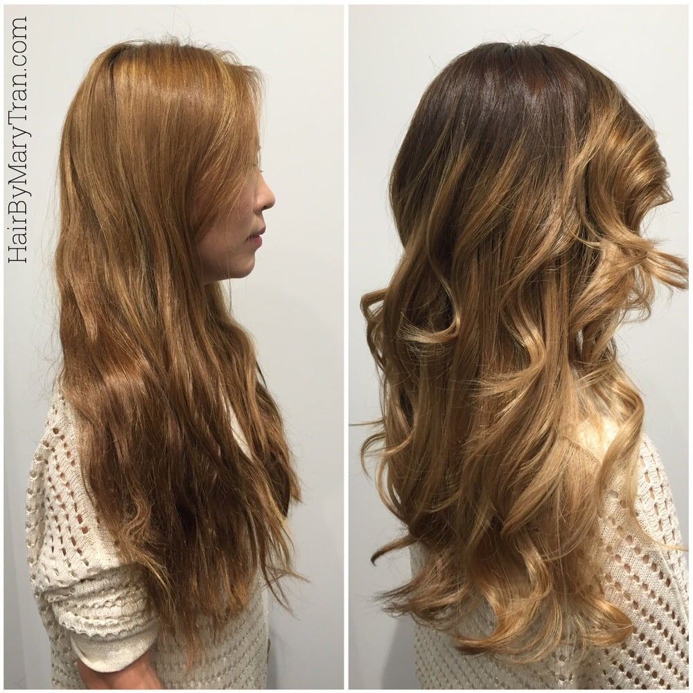 Before And After Color Correction Orangy Hair To Natural