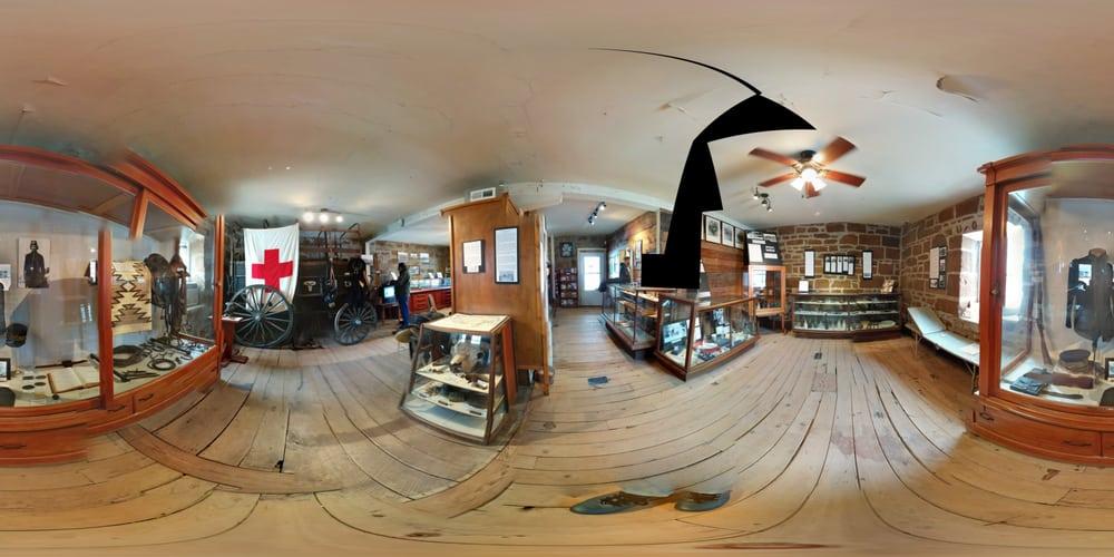 Fort Harker Guard House Museum: 303 W Ohio St, Kanopolis, KS