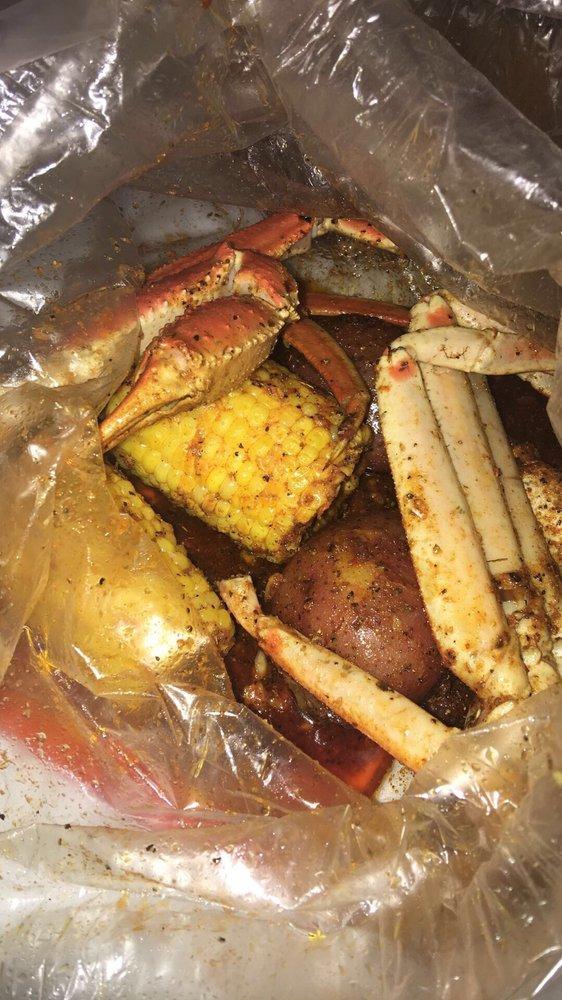 Crab legs with potatoes corn 3 the chi way seasoning for Two fish crab shack