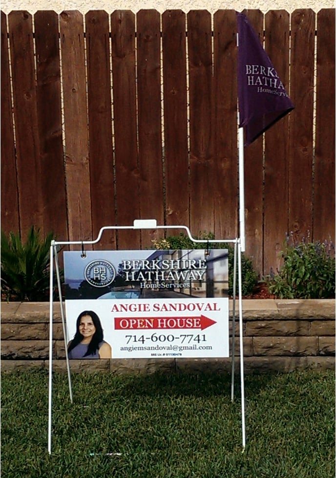 Custom printed Berkshire Hathaway open house signs with frame and ...