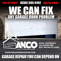 Anco Overhead Door Garage Services 106 Cool Valley Dr Fenton Mo Phone Number Yelp