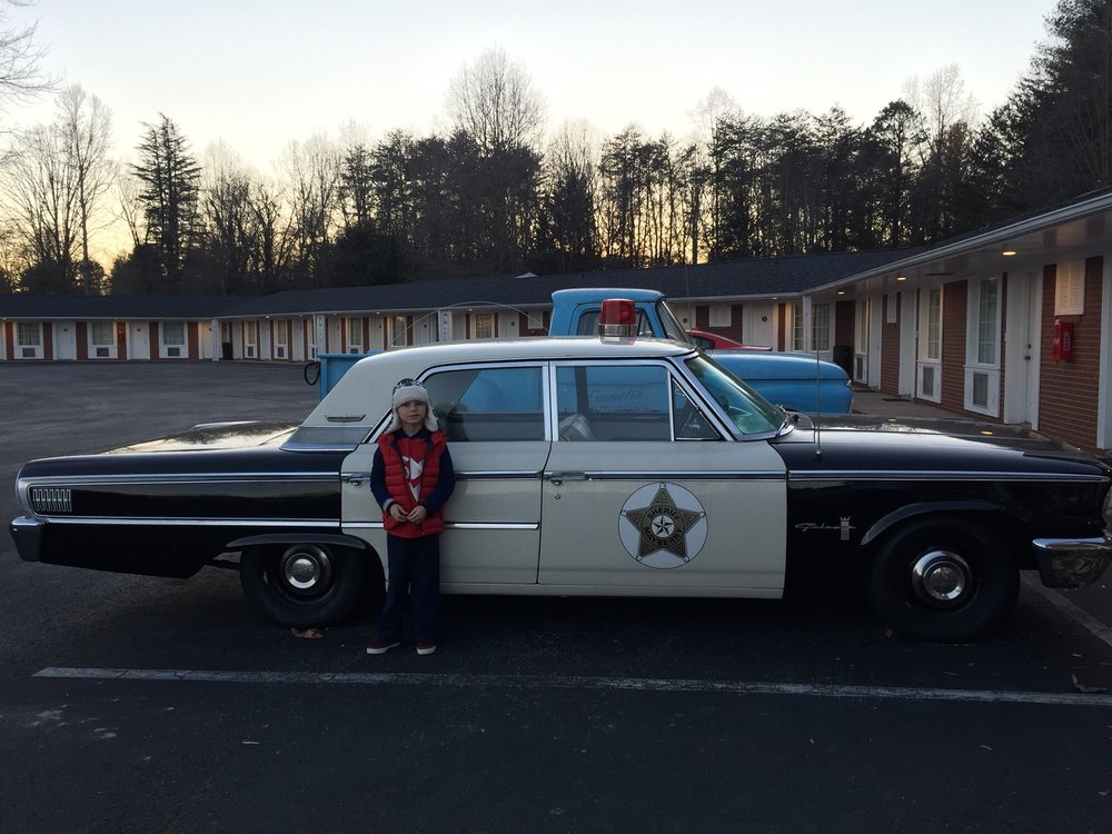 The police car used in the andy griffith show super cool for Mayberry motor inn mt airy nc