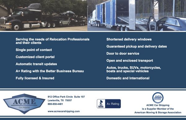 acme car shipping  Acme Car Shipping 812 Office Park Cir Lewisville, TX - MapQuest