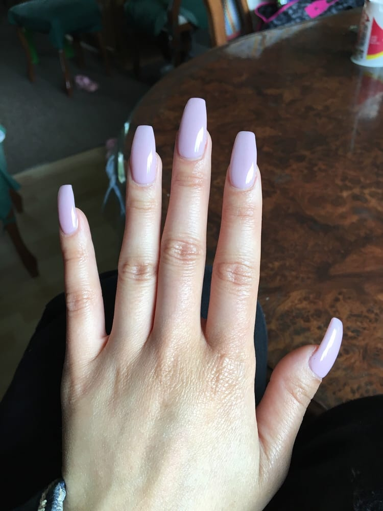 Full set acrylic nails with shellac - Yelp