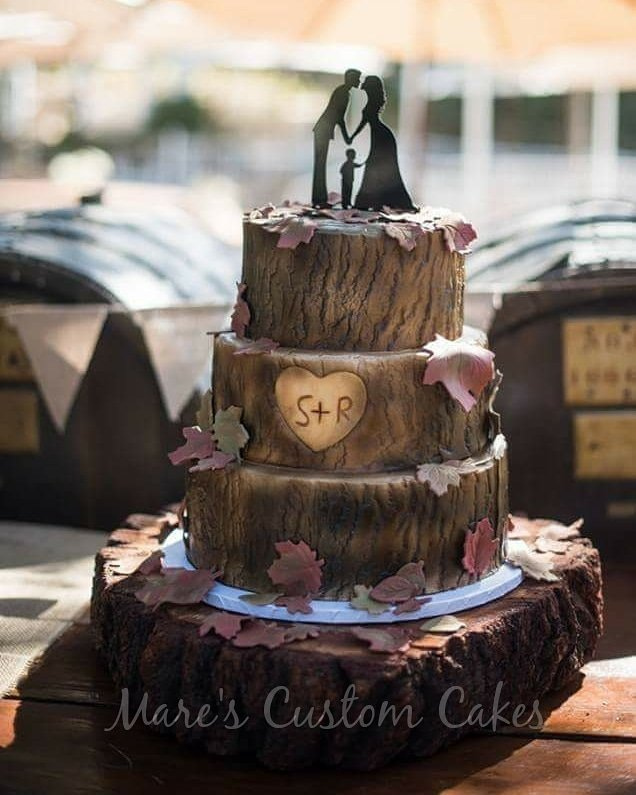 Tree trunk wedding cake - Yelp