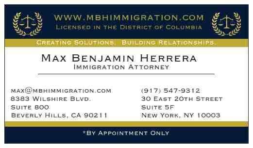 Business card for max benjamin herrera jdmba company name the photo of max benjamin herrera jdmba beverly hills ca colourmoves