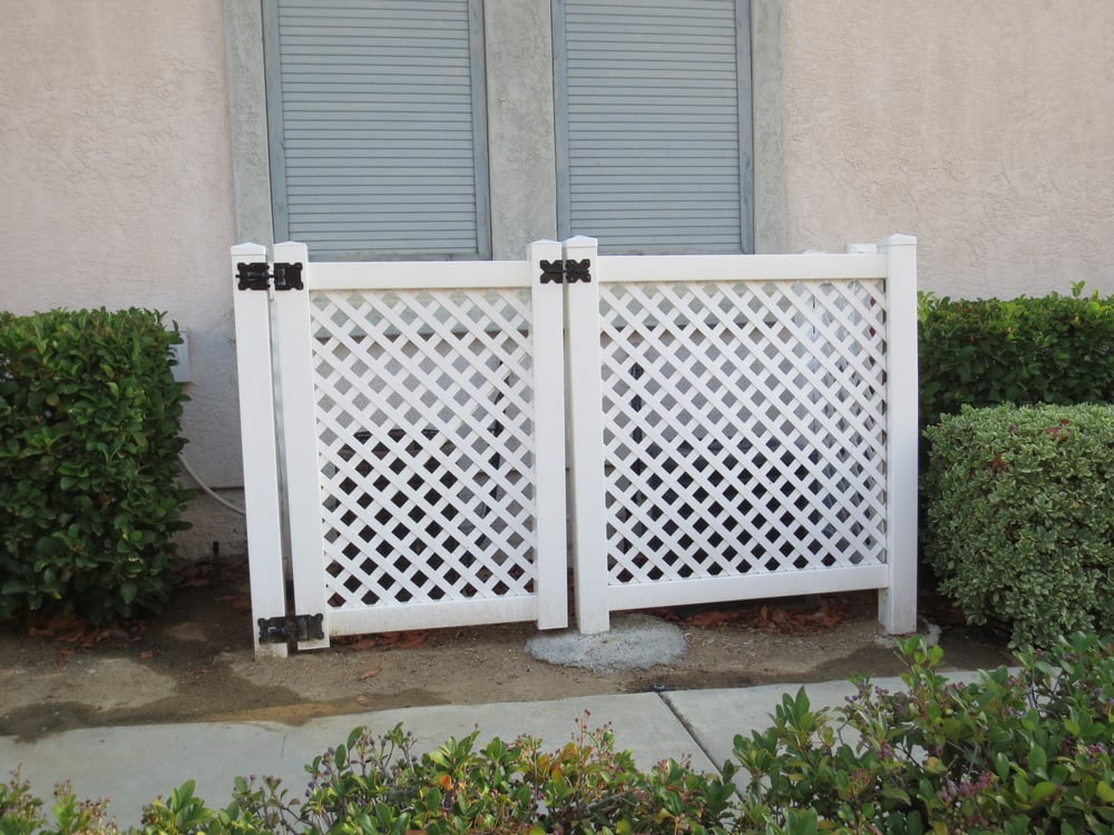 Vinyl Lattice Fence Gate To Cover That Ugly A C Yelp