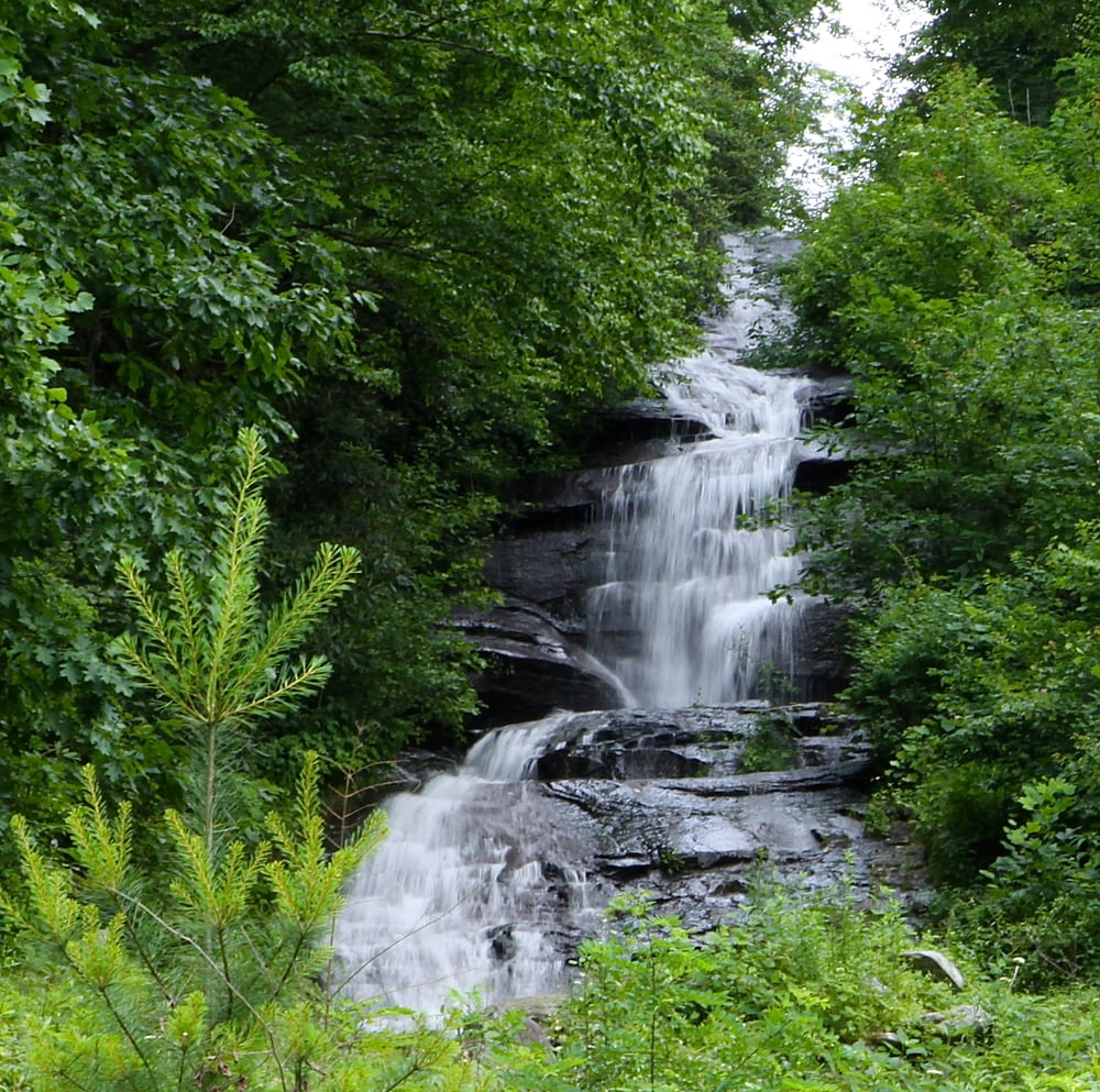 Private Waterfall At One Of Our Vacation Rentals 1 Mile