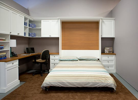combination home office guest room with pull down wall bed murphy bed yelp. Black Bedroom Furniture Sets. Home Design Ideas