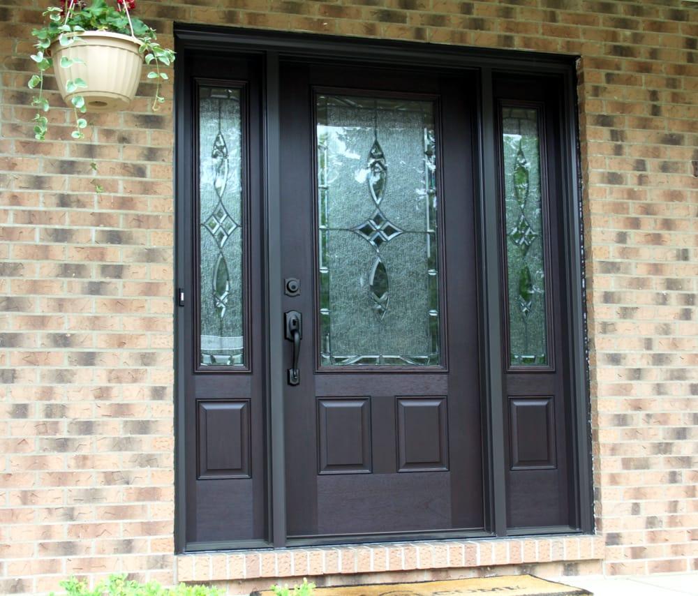 ThermaTru Fiberglass Entry Door With Blackstone