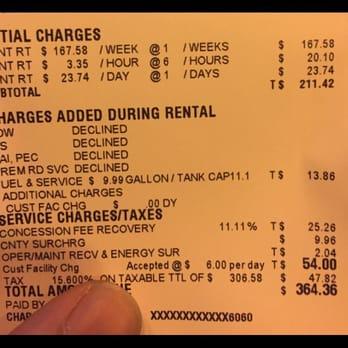 Thrifty Car Rental Ereceipt