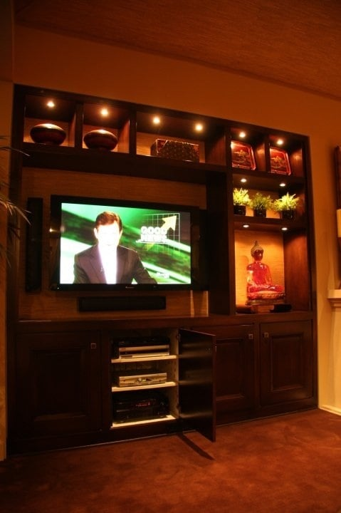 Photo of HAVE Electric - Carlsbad CA United States. 3.1 home theater custom & 3.1 home theater custom mounted TV and speakers. And accent lighting ...