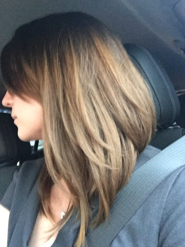 Long Bob Short In Back Long In Front By Sara G At Novak Salon Yelp
