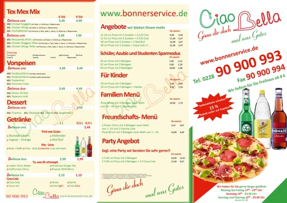 Ciao Bella - Food Delivery Services - Bonner Str. 139, Bonn ...